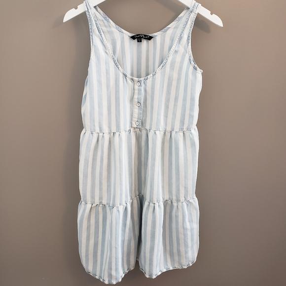Velvet Heart Babydoll Tencel Striped Dress S